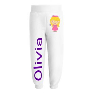 Princess Any Name Childrens Jogging Bottoms