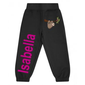 Sloth Any Name Childrens Jogging Bottoms