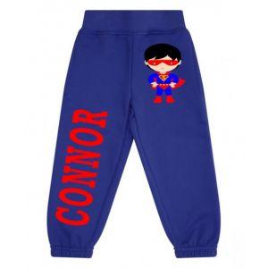Superhero Boy Any Name Childrens Jogging Bottoms