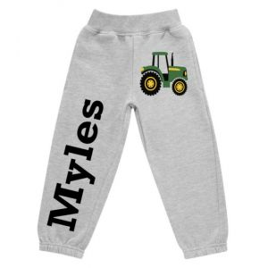 Tractor Any Name Childrens Jogging Bottoms