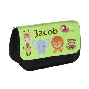 Jungle Animals Any Name Pencil Case