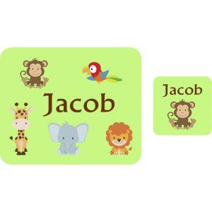 Jungle Animals Hardboard Placemat & Coaster