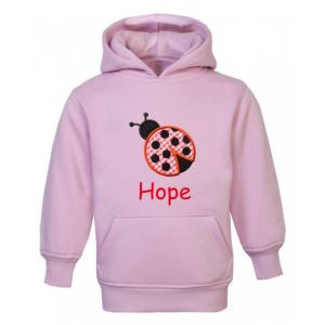 Ladybird Any Name Childrens Embroidered Hoodie