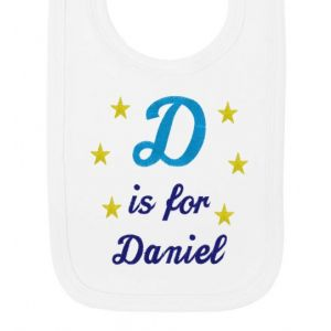 Any Letter is for Any Name Boy Baby Bib