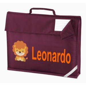 Lion Any Name Book Bag