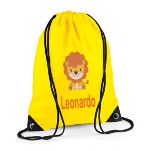 Lion Any Name Drawstring Bag
