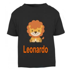 Lion Any Name Childrens Printed T-Shirt