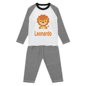 Lion Any Name Childrens Pyjamas