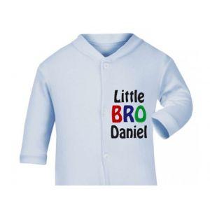 Little Bro Any Name Baby Sleepsuit
