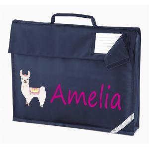 Llama Any Name Book Bag