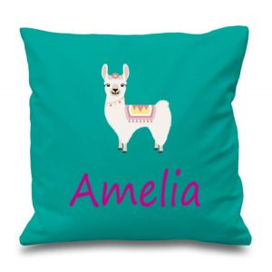 Llama Any Name Printed Cushion