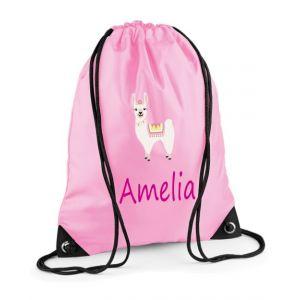 Llama Any Name Drawstring Bag