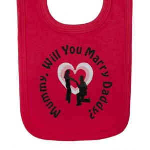 Mummy Will You Marry Daddy? Baby Bib