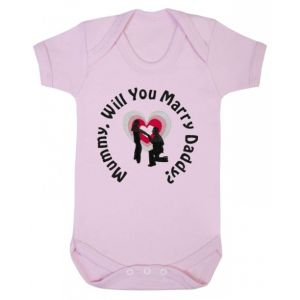 Mummy Will You Marry Daddy? Baby Vest