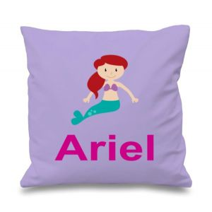 Mermaid Any Name Printed Cushion