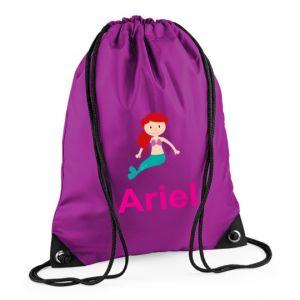 Mermaid Any Name Drawstring Bag