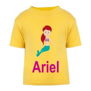 Mermaid Any Name Childrens Printed T-Shirt
