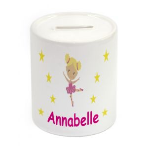 Ballet Dancer Ceramic Money Box