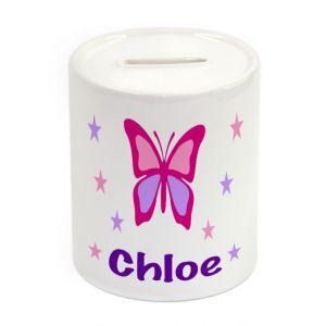 Butterfly Ceramic Money Box