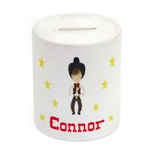 Cowboy Ceramic Money Box