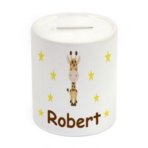 Giraffe Ceramic Money Box
