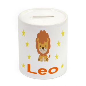 Lion Ceramic Money Box