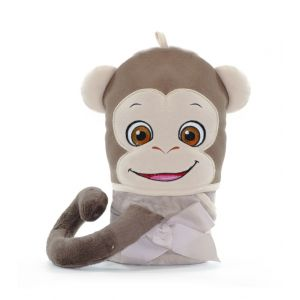 Bugaloo The Monkey Childrens Hooded Towel