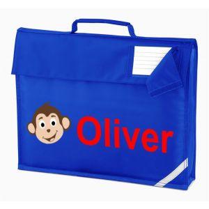 Monkey Any Name Book Bag