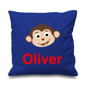 Monkey Any Name Printed Cushion
