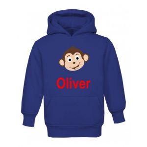 Monkey Any Name Childrens Hoodie