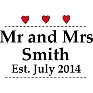 Mr and Mrs Wedding Design