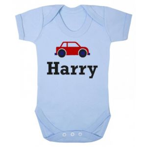 Any Name Car Baby Vest