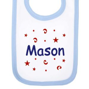 Any Name Confetti Baby Bib