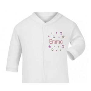Any Name Confetti Baby Sleepsuit