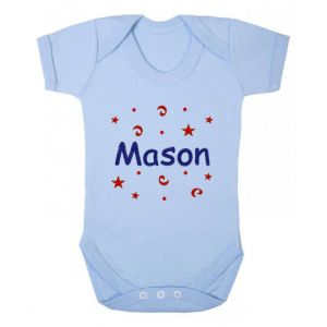 Any Name Confetti Baby Vest