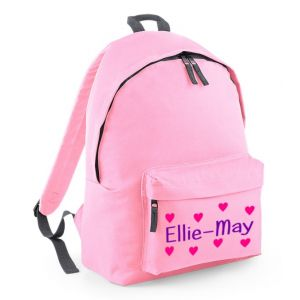 Hearts Any Name Childs Rucksack