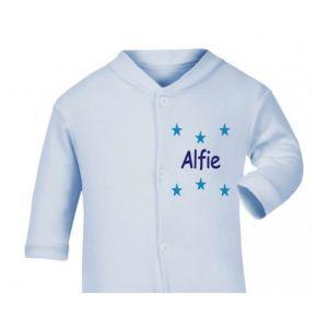 Any Name Stars Baby Sleepsuit