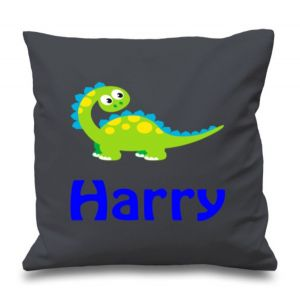 Cute Dinosaur Any Name Printed Cushion