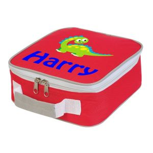Cute Dinosaur Any Name Lunch Box Cooler Bag