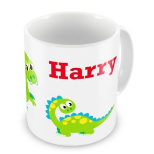 Cute Dinosaurs + Name Mug