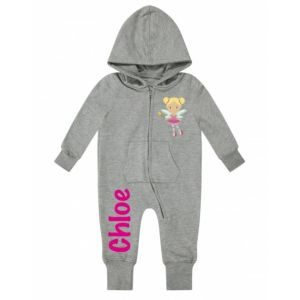 Fairy Any Name Childrens Zip Up Onesie