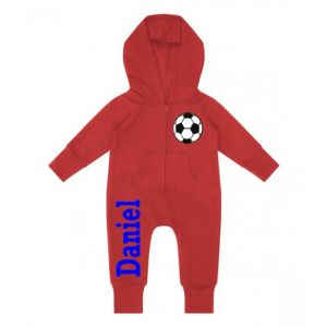 Football Any Name Childrens Zip Up Onesie