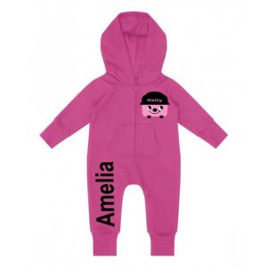 Hetty Hoover Any Name Childrens Zip Up Onesie