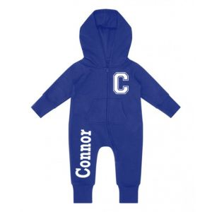 Initial + Any Name Childrens Zip Up Onesie