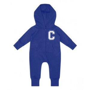 Initial (Left Chest) Childrens Zip Up Onesie