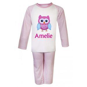 Owl Any Name Embroidered Pyjamas