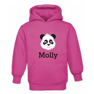 Panda Any Name Childrens Embroidered Hoodie