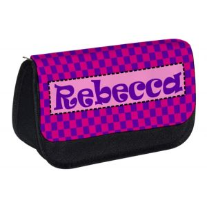 Choose Patterned Background Any Name Pencil Case