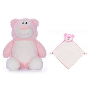 Cubbyford The Pink Bear Cubbie & Blankie Gift Set