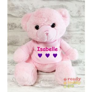 Pink Blue Grey White Teddy Bear with T-shIrt